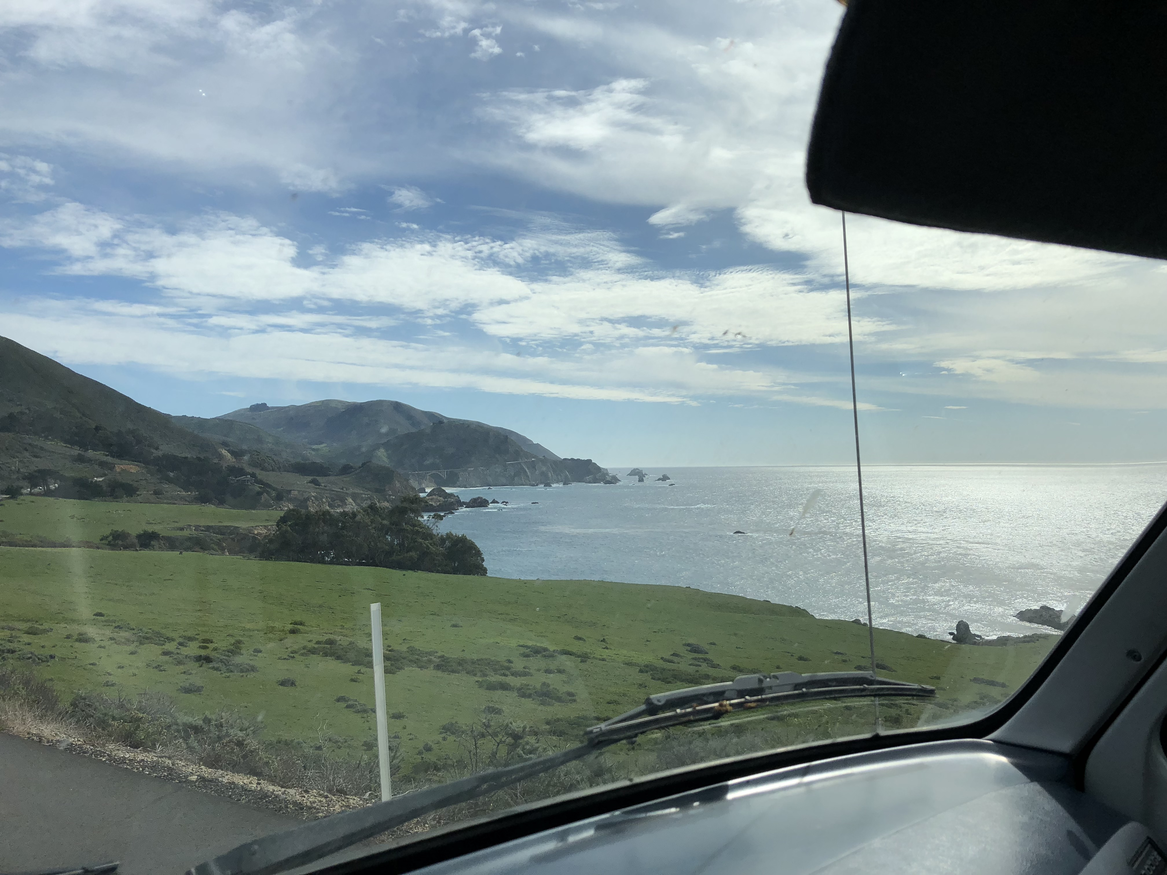 A view of Highway 1 from my car