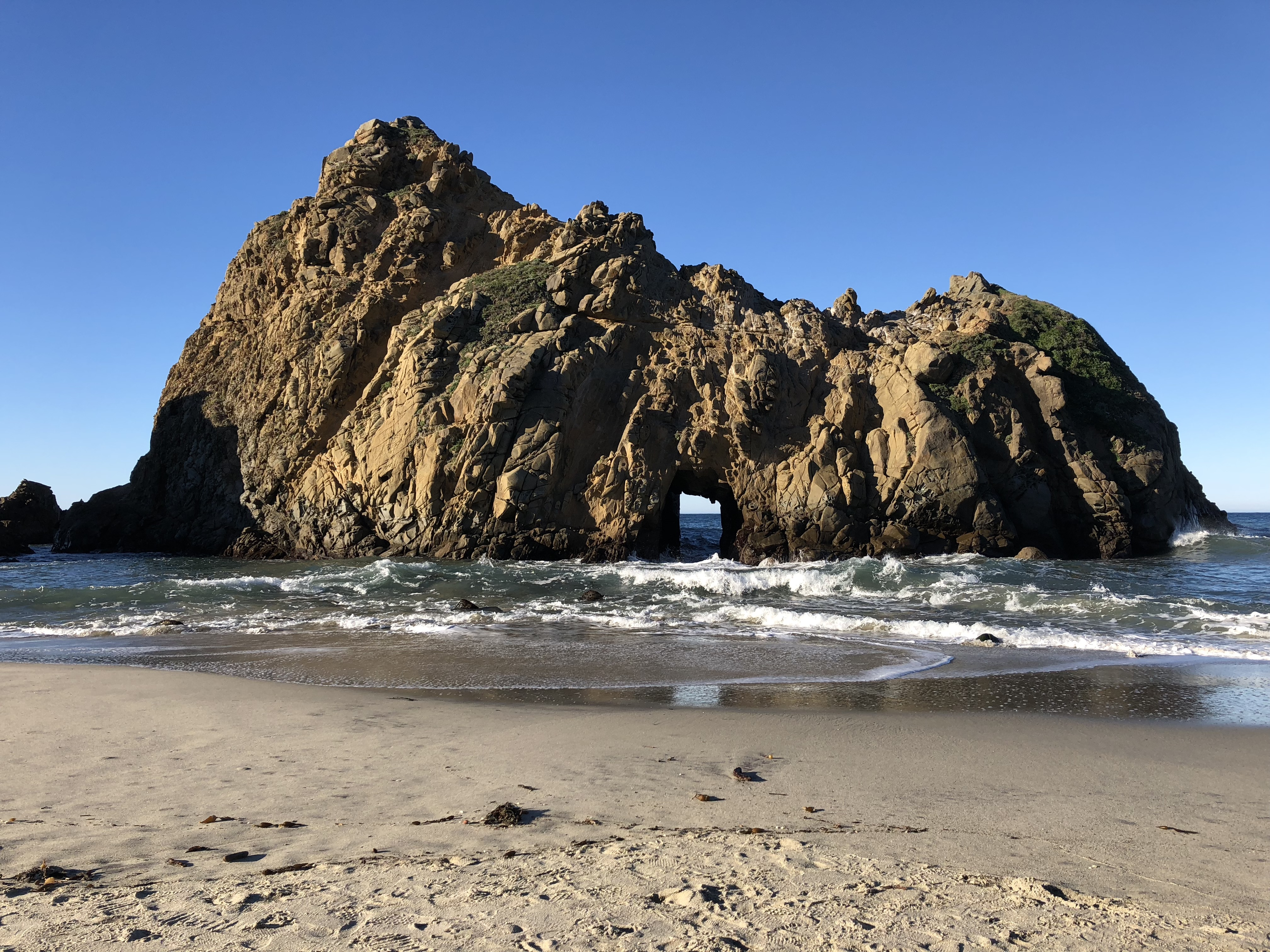 A hole in a rock at Pfeiffer Beach