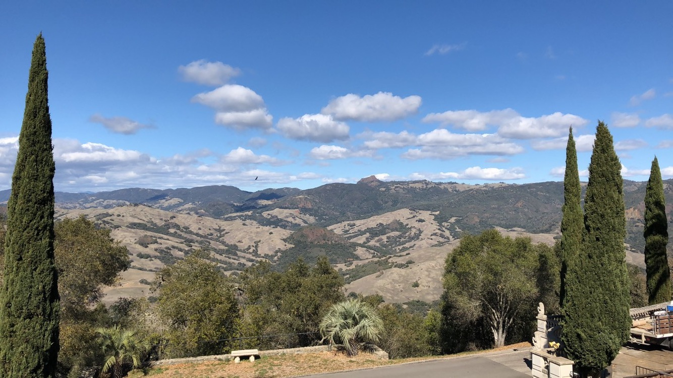 The view of the backyard of Hearst Castle