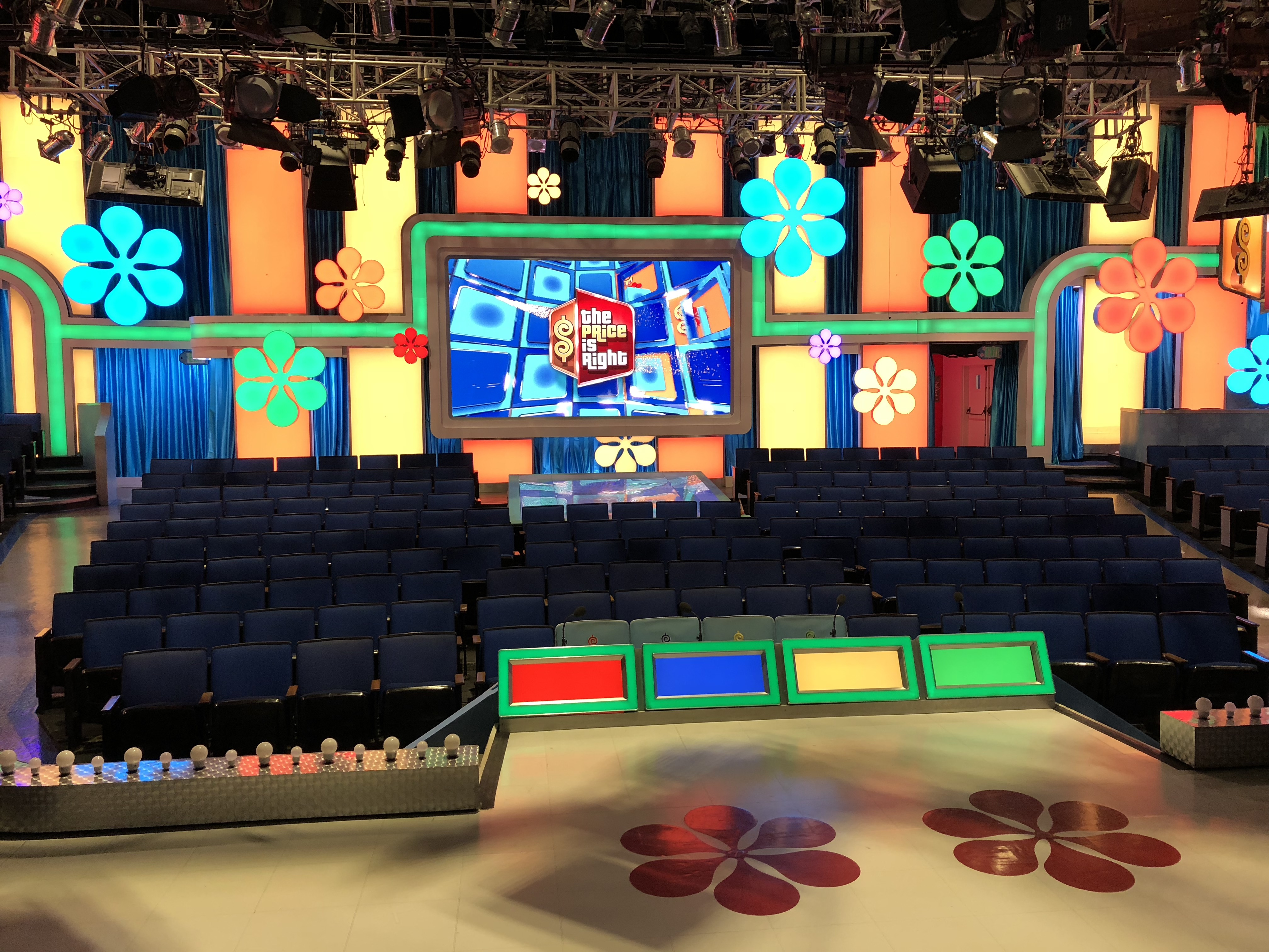 the view from the stage at The Price is Right