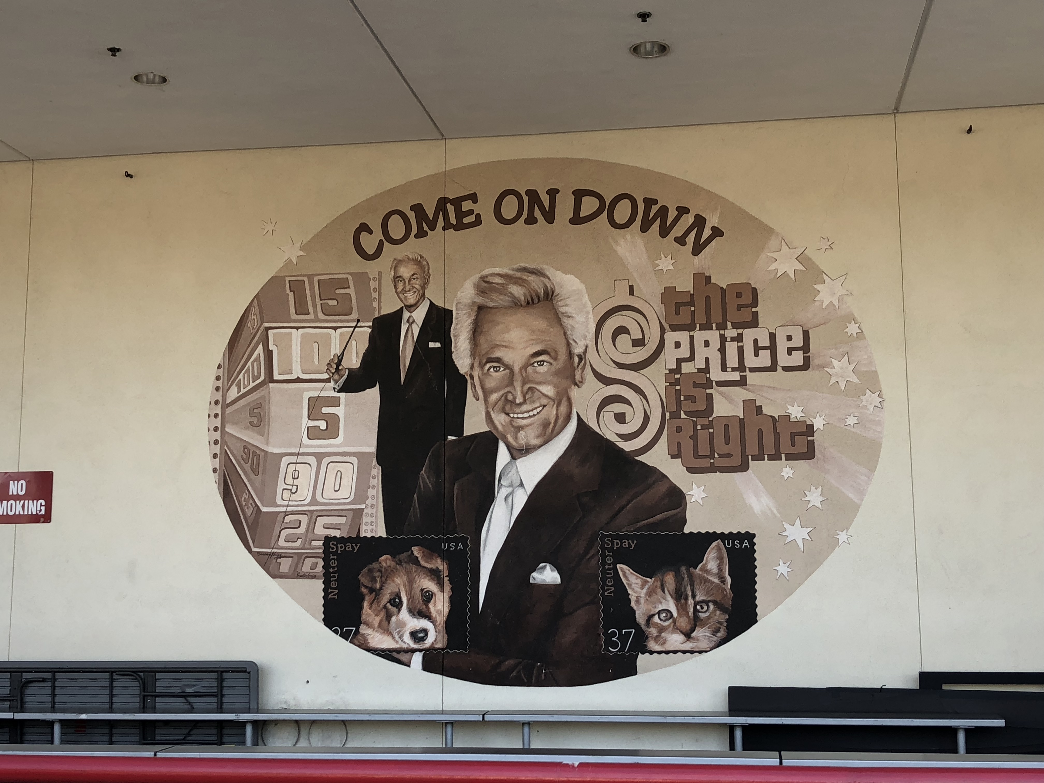 a Price is Right mural featuring Bob Barker