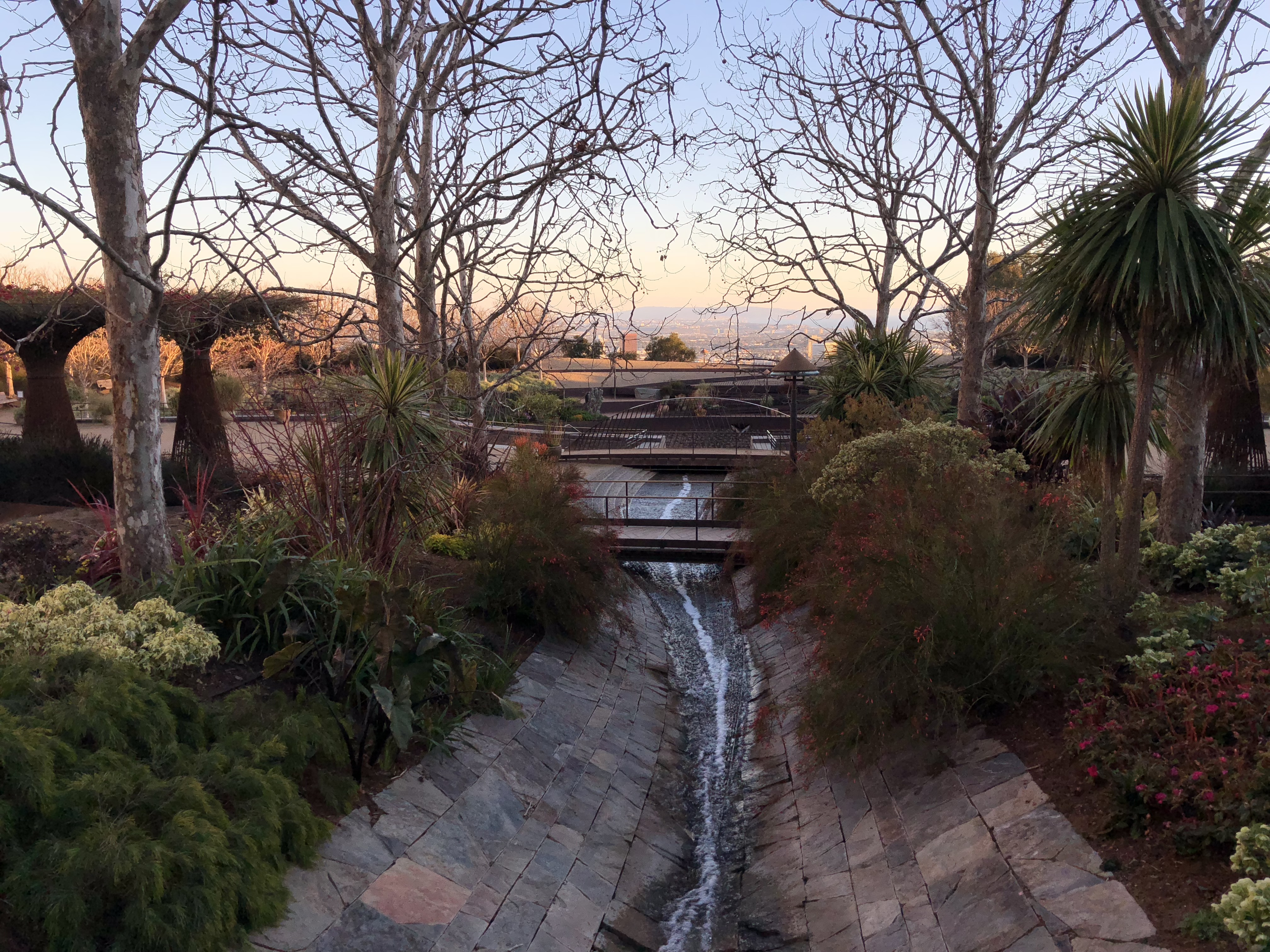 Sunset at the Getty Center