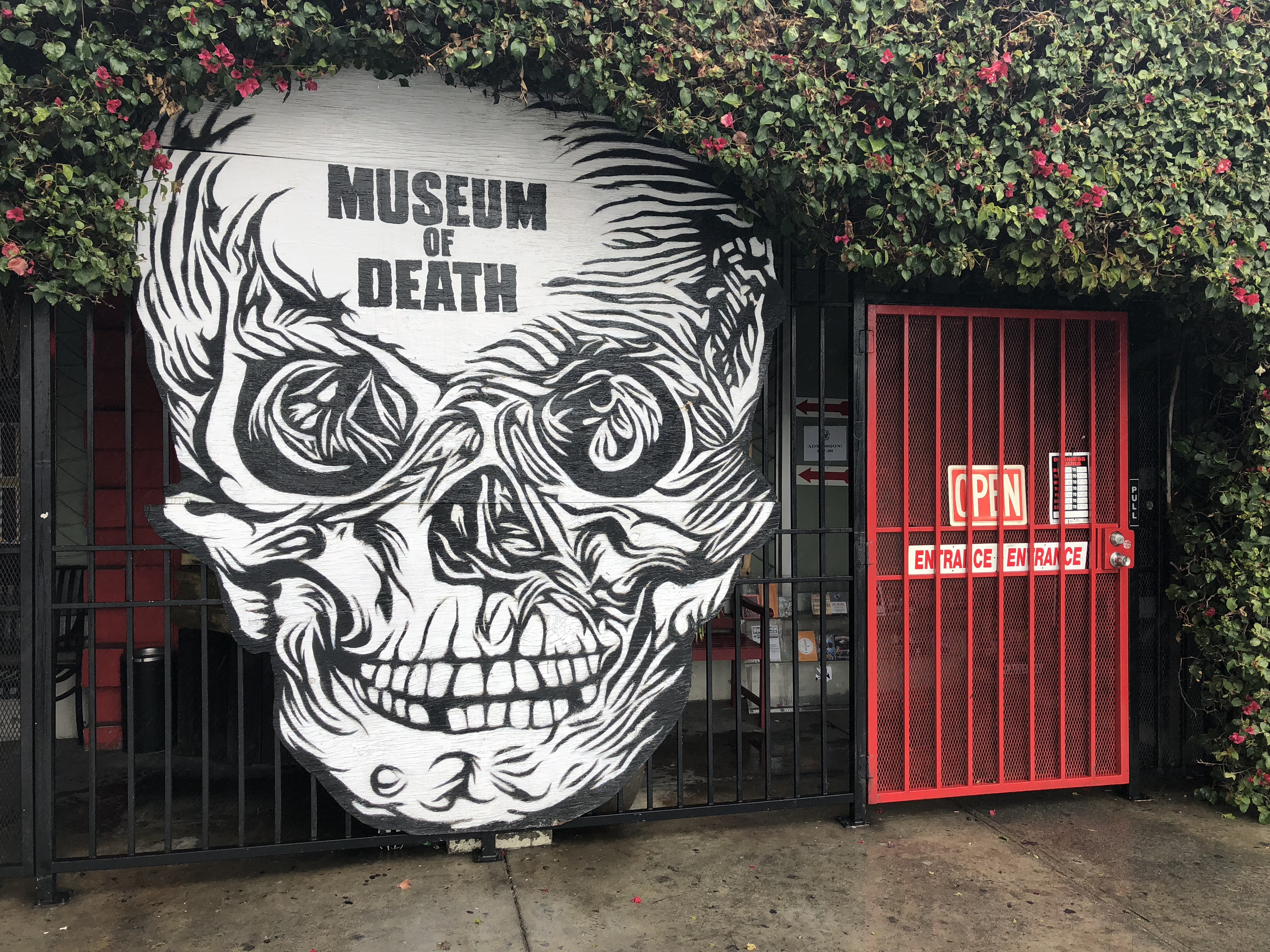 The entrance to the Museum of Death