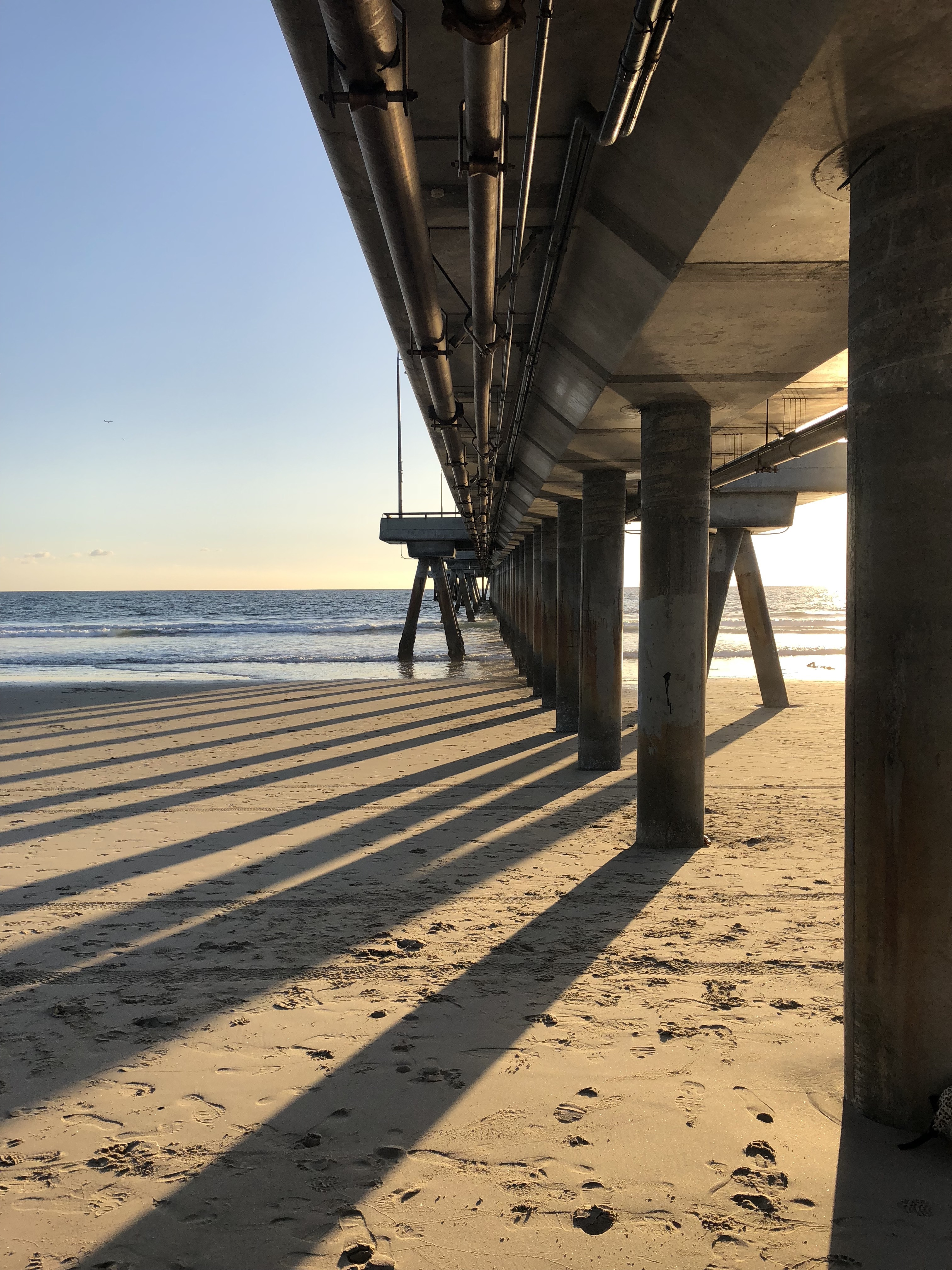 A view from under the Venice Beach pier