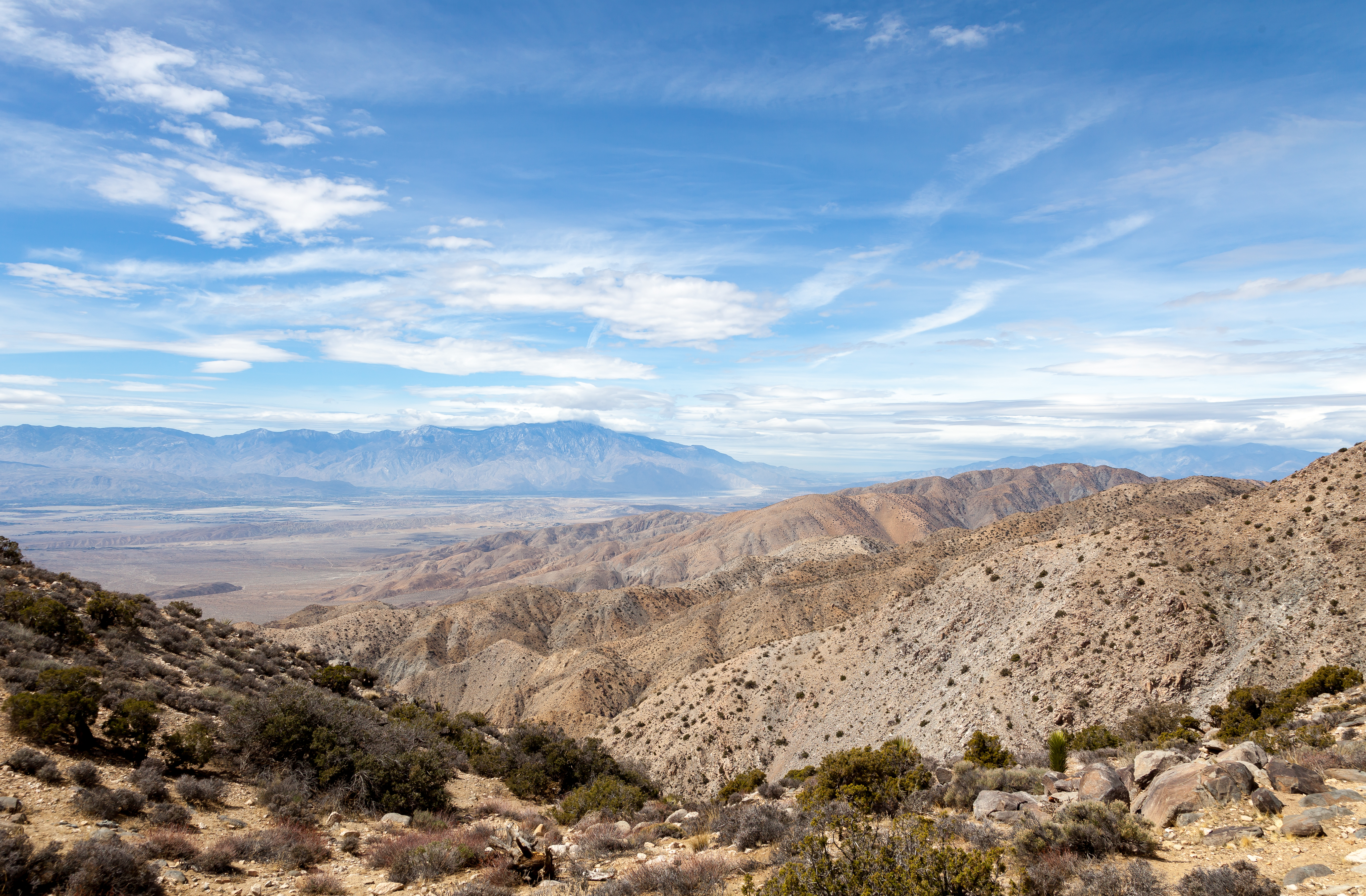 a view from a vista in Joshua Tree National Park