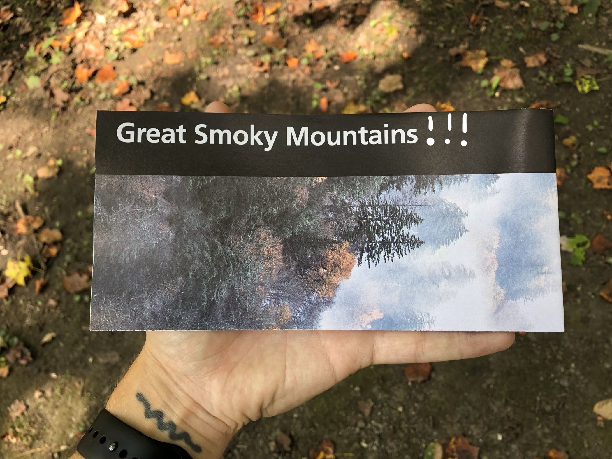 a brochure for Great Smoky Mountains National Park